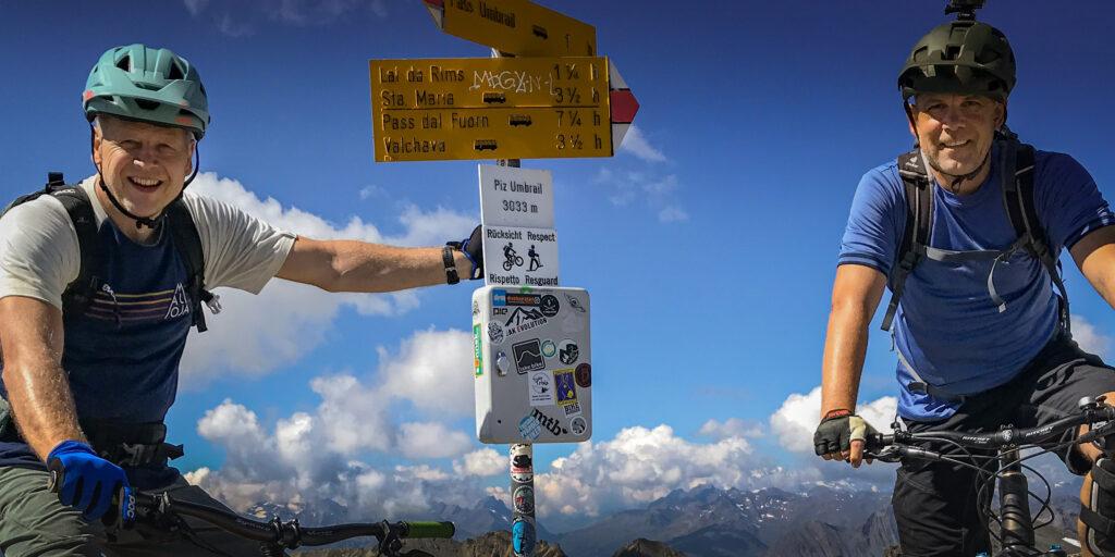 PTZ und O-Soft auf dem Gipfel des Piz Umbrail 3033m